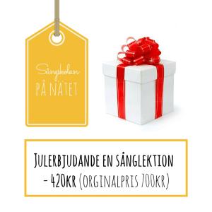 Sånglektion en julklapp från sångskolan